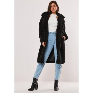 Black Oversized Teddy Coat